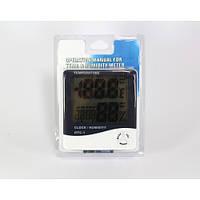 Термометр часы гигрометр LCD 3 в 1 HTC-1