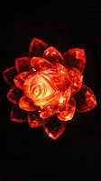 Светильник ночник Цветок Лилии красный