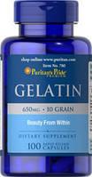 Puritan's Pride - USAGelatin 650 mg  100caps. Желатин для суставов,костей,ногтей.