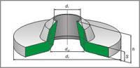 Манжеты для пневмоустройств В (воротник)-уплотнение для штока ГОСТ 6678-53