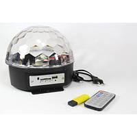 Диско-шар Music Ball светодиодный + пульт + флешка, фото 1