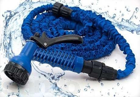 Шланг X-hose 7,5 метрів, компактний шланг, шланг з розпилювачем, розтягується садовий шланг