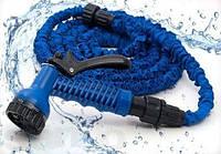Шланг X-hose 7,5 метрів, компактний шланг, шланг з розпилювачем, розтягується садовий шланг, фото 1