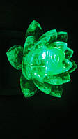 Светильник ночник Цветок Лотос зеленый, фото 1