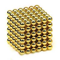 Неокуб 5 мм золото, NeoCube, конструктор магнитные шарики, фото 1