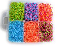 Набор резиночек для плетения в стиле Rainbow Loom