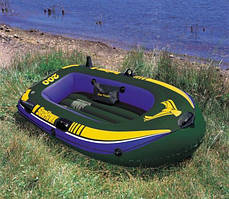 Човен надувний Intex 2х місцева + Комплект 68347