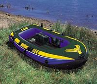 Лодка надувная  Intex 3х местная 68349 287*119*42 см