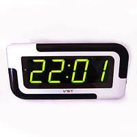 Часы сетевые  настенные 739-2 зеленые
