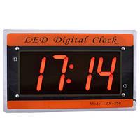 Часы сетевые  настенные 35 С красные