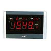Часы сетевые настенные говорящие 771 Т-1 красные, пульт Д/У