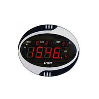 Часы сетевые настенные говорящие 770 Т-1 красные, пульт Д/У