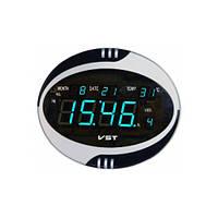 Часы сетевые настенные говорящие 770 Т-5 синие, пульт Д/У