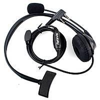 Гарнитура Retevis с микрофоном на штанге для раций Baofeng\Kenwood