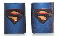 Кожаная обложка на паспорт Супермена, фото 1