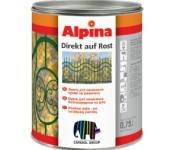 Краска по металу Alpina Direkt auf Rost Nußbraun (горіхово-коричневий) RAL8011 0,75л
