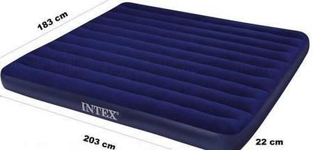 Надувной двухместный матрас Intex 68755, размер 183х203х22 см, без встроенного насоса, фото 2