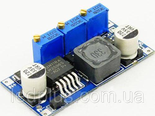 Понижающий стабилизатор напряжения и тока LM2596 регулируемый