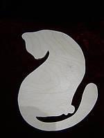 Трафарет кошка с хвостиком