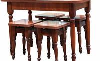 Стол кухонный раздвижной и 4 табурета 28 мм  /  Стіл кухонний розсувний і 4 табурети 28 мм