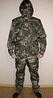 Дюспо-бондинг Костюм демисезонный Атакс камуфляж, подкладка флис, для охоты и рыбалки