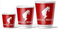 Стакан бумажный одноразовый с логотипом Julius Meinl, 110 мл, 50 шт