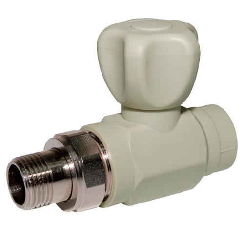 Кран радиаторный для отопления прямой d 25