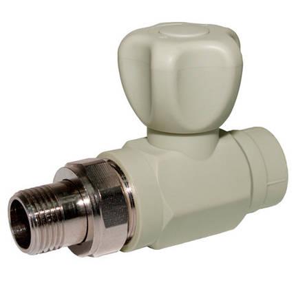 Кран радиаторный для отопления прямой d 25, фото 2
