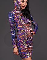 Женская туника с капюшоном (1005 Print 5 mr)