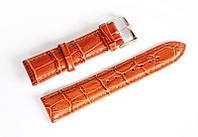 Ремінець шкіряний Italian Classic для наручних годинників, коричневий, 20 мм
