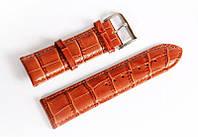 Ремінець шкіряний Italian Classic для наручних годинників, коричневий, 24 мм
