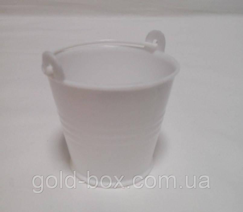 Декоративне відерце біле 5,5х5х4