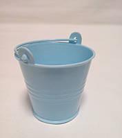 Декоративное ведерко голубое 5,5х5х4