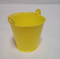 Декоративное ведерко желтое 5,5х5х4