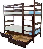 """Кровать двухъярусная из натурального дерева  """" Дори """""""
