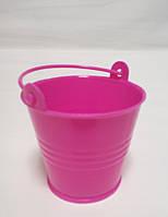 Декоративное ведерко розовое 5,5х5х4