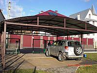 Навесы для автомобилей из поликарбоната, профнастила и металлочерепицы