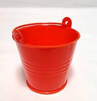 Декоративное ведерко оранжевое 5,5х5х4