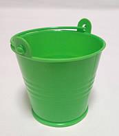 Декоративное ведерко зеленое 5,5х5х4