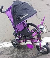 Велосипед детский трехколесный Фиолетовый Lamborghini c фарой WS-610F