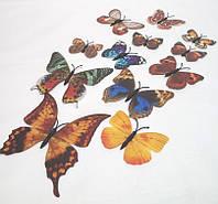 Декоративные бабочки на магните и липучке 12шт коричневые+