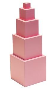 Розовая башня 5 кубиков