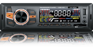 "Автомагнитола ""Celsior"" MP3/USB/SD/ISO/доп. разъем CSW-1501 (оранж. подсв.)"