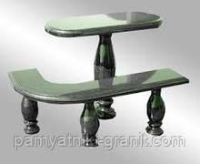 Столи і лавки з граніту (Зразок 602)