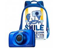 Фотоаппарат Nikon Coolpix S33 Blue + Рюкзак