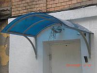 Козырьки для крыльцов из поликарбоната, металла