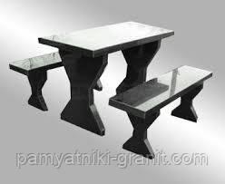 Столи і лавки з граніту Житомир (Зразок 601)