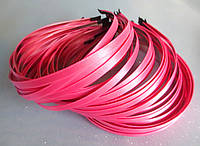 Обруч металлический с атласной лентой, РОЗОВЫЙ, 0,6 см