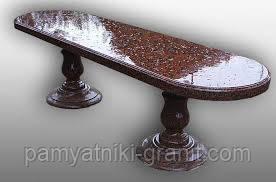 Гранитные столы лавки (Образец 600)