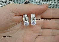 Роскошные женские серьги из серебра